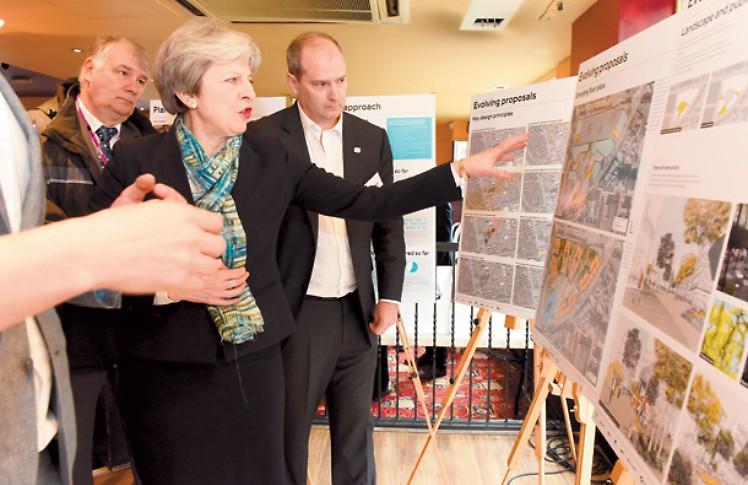 Theresa May at the Landing Exhibition - Lantern