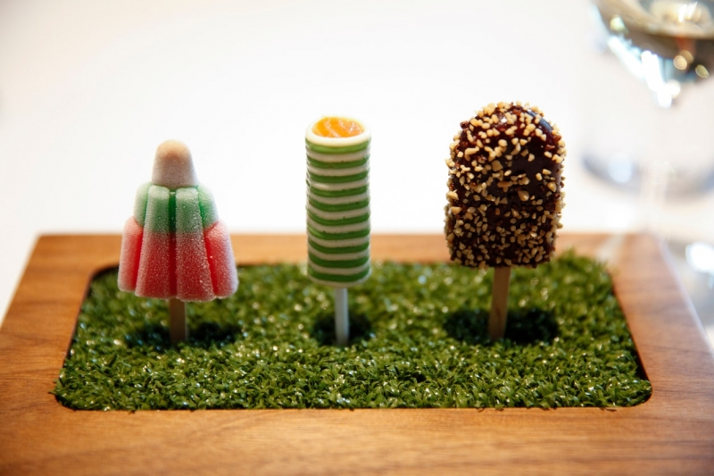 Savoury ice lollies at The Fat Duck - Maidenhead Food