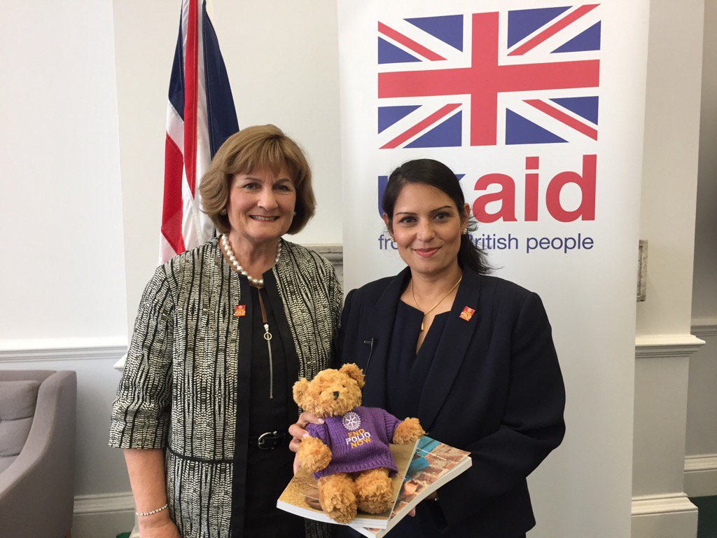 Councillor Judith Diment - polio