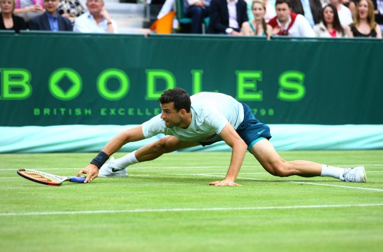 Dimitrov at the Boodles Challenge - LANTERN
